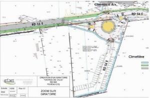 plan du projet de rond point du cimetière